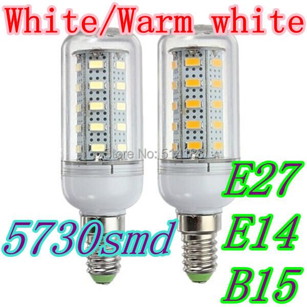 E27 E14 B15 led lamps light 220V-240V Corn Bulbs floodlight 36Leds 5730SMD max 12W 1000LM - Brightron LED Lighting Factory store
