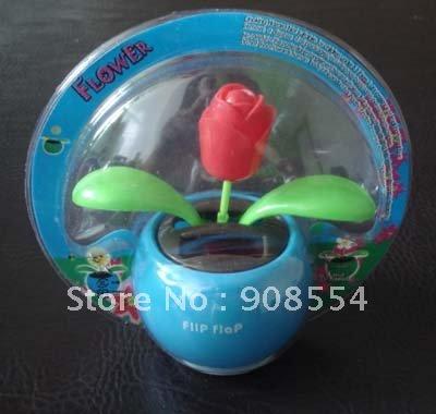 solar dancing flower 15pcs per lot Free shipping via China Post Air Mail no battery no water(China (Mainland))
