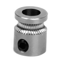10pcs/lot MK8 Extruder Drive Gear 5mm Bore for 1.75mm Filament 3D Printer Silver