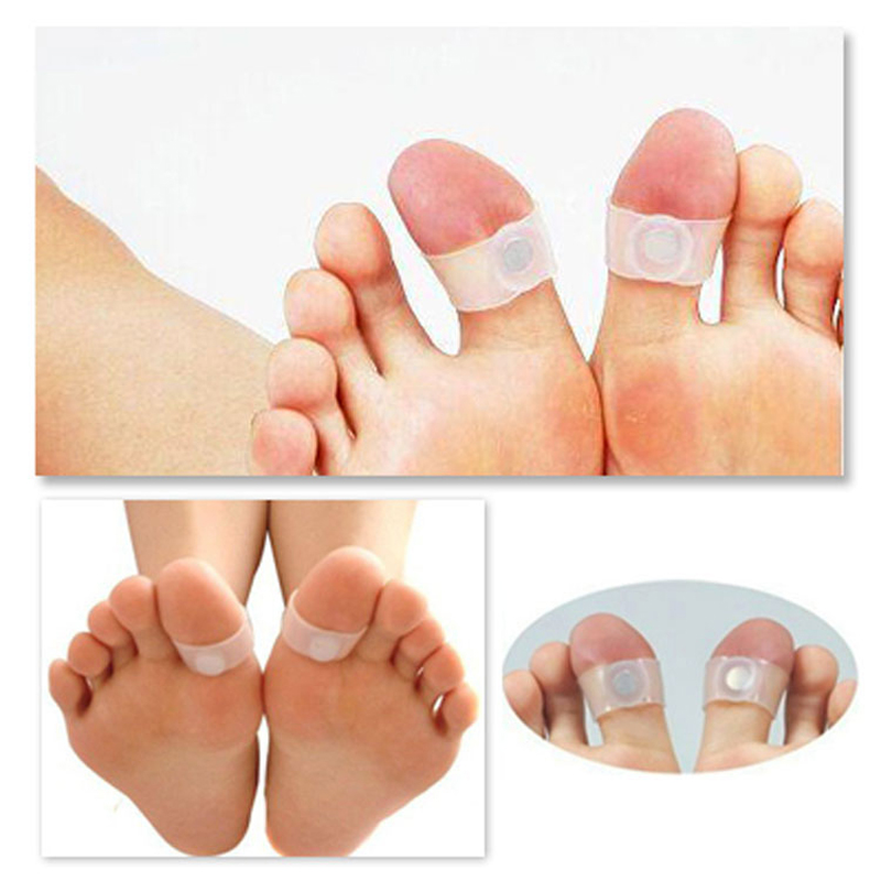 3pairs 6pcs Silicone Magnetic Massage Foot Toe Ring Keep Fit Slimming Lose Weight Health Care