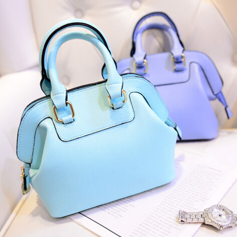Brand Designer Handbag Top PU Leather Candy Color Shell Bag Women Famous Shoulder Young Girl - Fujian Hengsheng Co., Ltd store