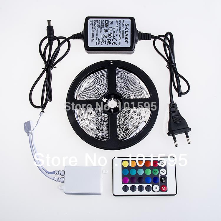 Hot sell! RGB Non-Waterproof 5M 3528 Led Strip Flexible Light 60led/m 300 LED SMD DC12V LED Strips RGB/Single Color(China (Mainland))