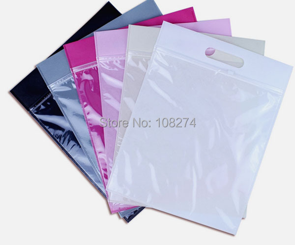 35 27cm 5cm clear plastic and non woven zip lock bag for for Clear shirt packaging bags