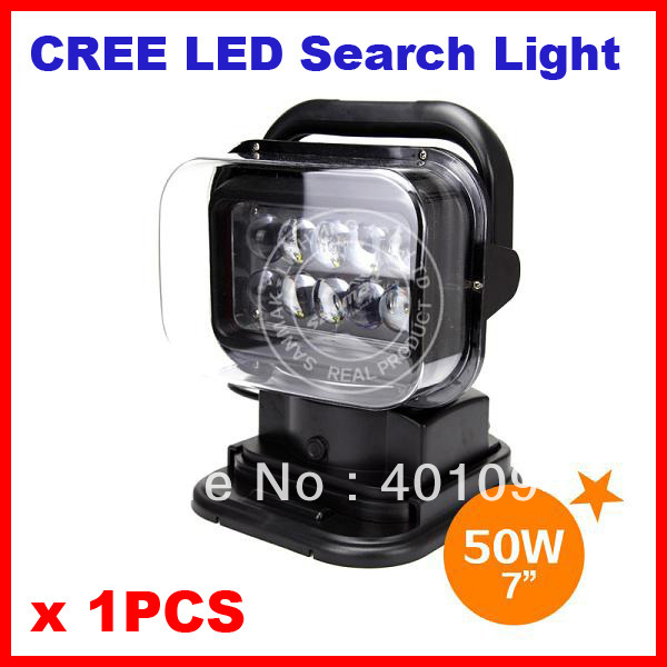 EMS 7 50W CREE 10LED*(5W) Search Light Spot Beam Wireless Remote Control Magnet Base 360 Degree Rotating 9-48V 6500lm Off-Road