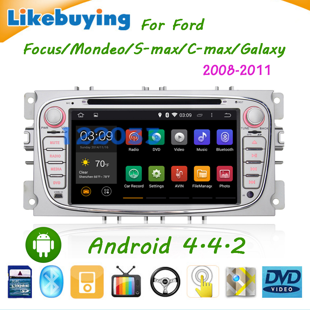 Android 4.4.2 Car DVD GPS Ford Focus/Mondeo/S-max/C-max/Galaxy 2007 2008 2009 2010with WiFi Canbus/free 8G Card Map - Shenzhen Being Lucky Trading Co.,Ltd store