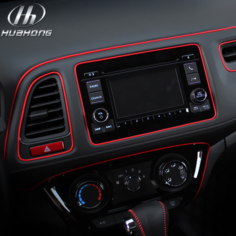 Car 5meters set decorative thread sticker interior air for Accessoire voiture interieur