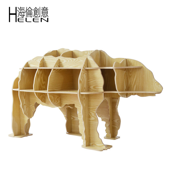 Polar Bear Polar Bear Coffee Table A Few Side Racks Creative Animal Shaped Wooden Shelves