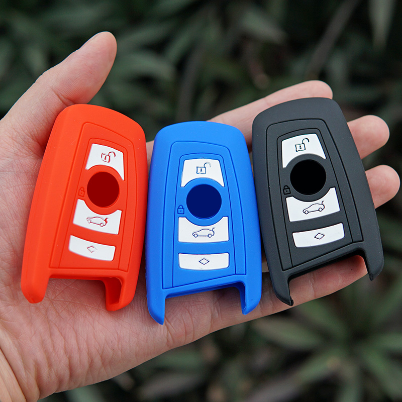 silicone Rubber key fob cover case wallet BMW M1 M2 M3 F05 F10 F20 F30 335 328 535 650 740 remote holder protect accessories