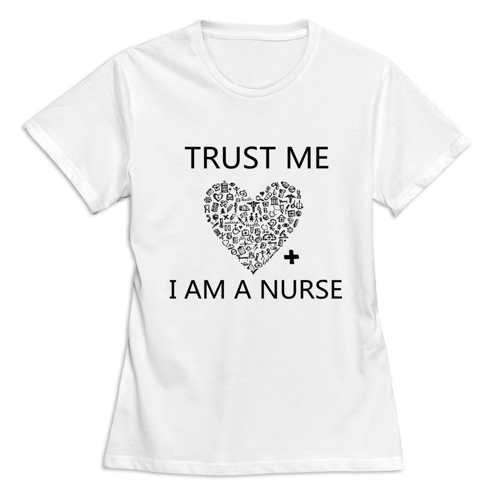 Trust me i am a nurse t shirt for women 39 s 100 cotton for I am a nurse t shirt
