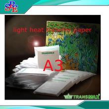 (10 pieces/lot) A3 Size Light Transfer Paper Inkjet Sublimation Light Color Heat Transfer Paper(China (Mainland))