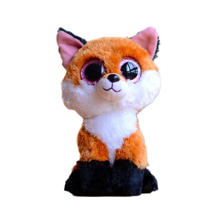 Ty Beanie Boos Original Big Eyes Plush Toy Doll Child Brithday 10 - 15cm Foxes TY Baby For Kids Gifts(China (Mainland))