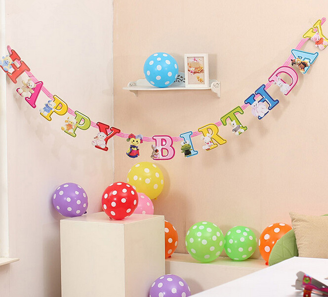 Beautiful Decoration For Birthday Party : 210cm beautiful happy birthday Banners birthday decor party decoration ...