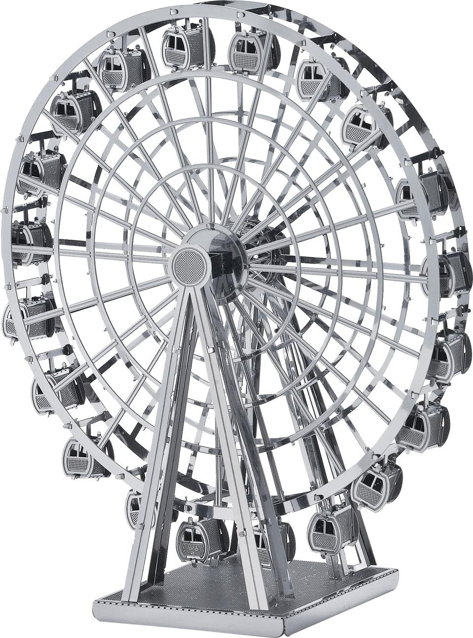 Educational Toys 2015 New silver Ferris wheel Construction 3D Nano metal DIY board games for children Birthday gift for kids(China (Mainland))