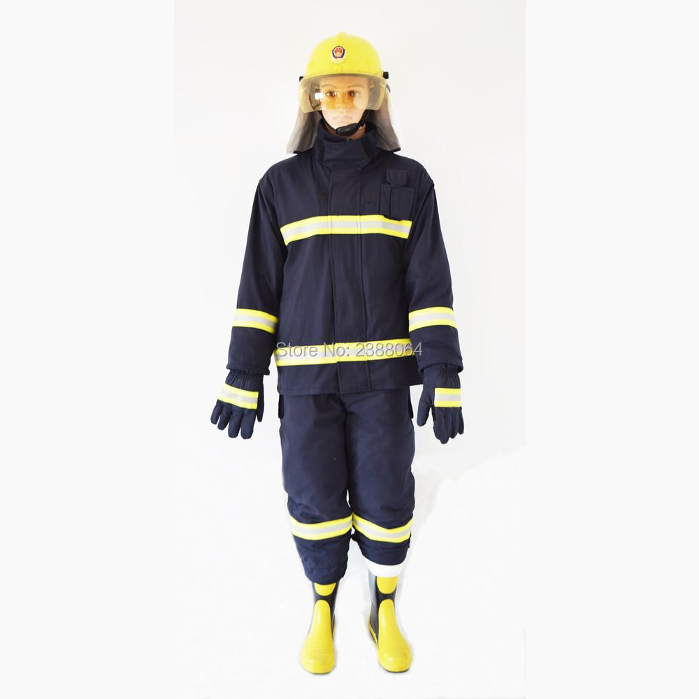 Sale As One Set(Including Fire helmet gloves belt boots)Cotton En469 nomex fire clothing