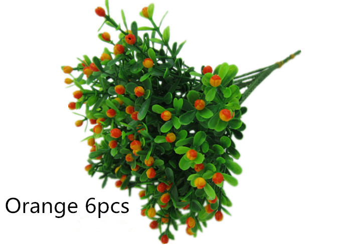 Free shipping 6pcs artificial Green plants Small strawberry with water plants bowyer silk flower home decor(China (Mainland))