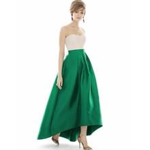 High Quality Asymmetrical Skirt Zipper Waist Floor Length High Low Skirt Elegant Long Skirt