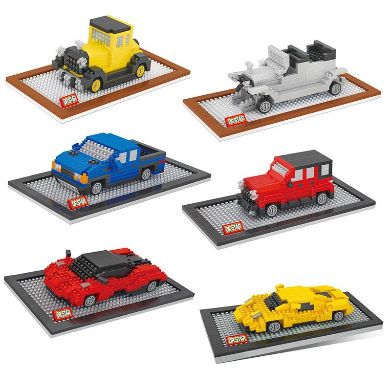 Model Car Diamond Building Blocks Ford Pagani Huayra Jeep Dodge Racing Car Model Mini DIY Bricks Toys(China (Mainland))