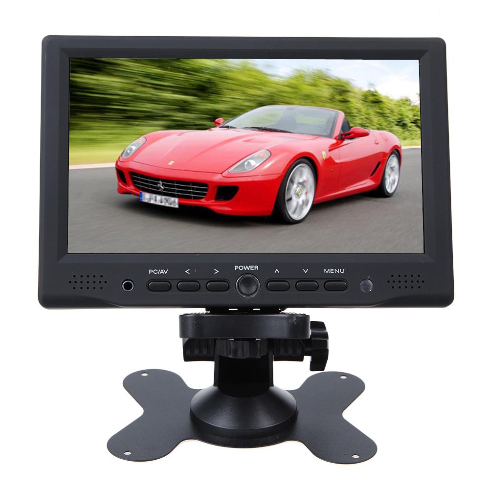 New Portable 7 inch Monitor HD HDMI AV VGA LCD For Car  rear view camera DSLR PC DVD headrest monitor 7 tft lcd<br><br>Aliexpress