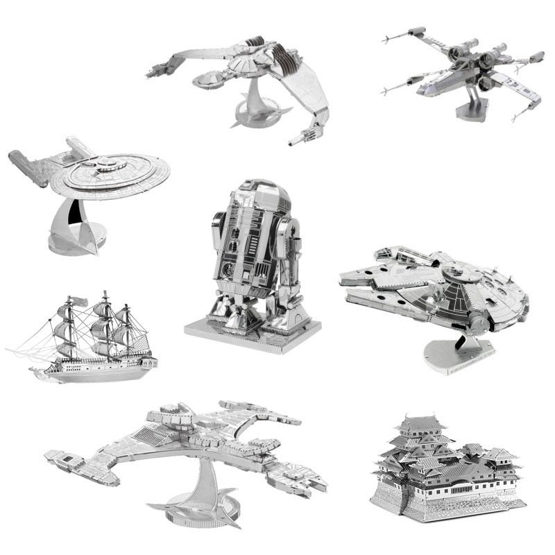 3D Jigsaw Puzzles for Kids Star Wars 3D Nano Metal DIY scale Model Building Architecture educational toy for toddlers LA679175(China (Mainland))