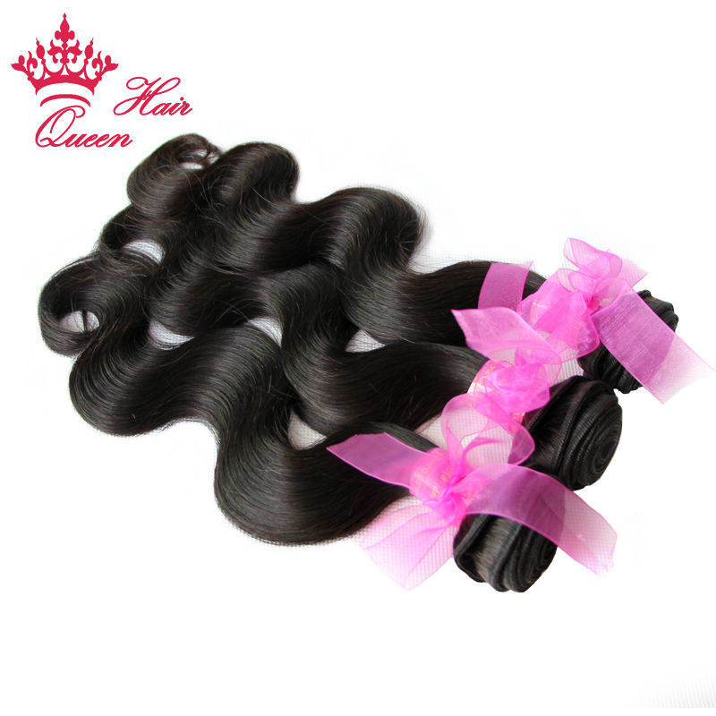 Queen Hair Products Brazilian Virgin Hair Body Wave 100% Virgin Unprocessed Human Hair Weave Hair Extension 3pcs/lot(China (Mainland))