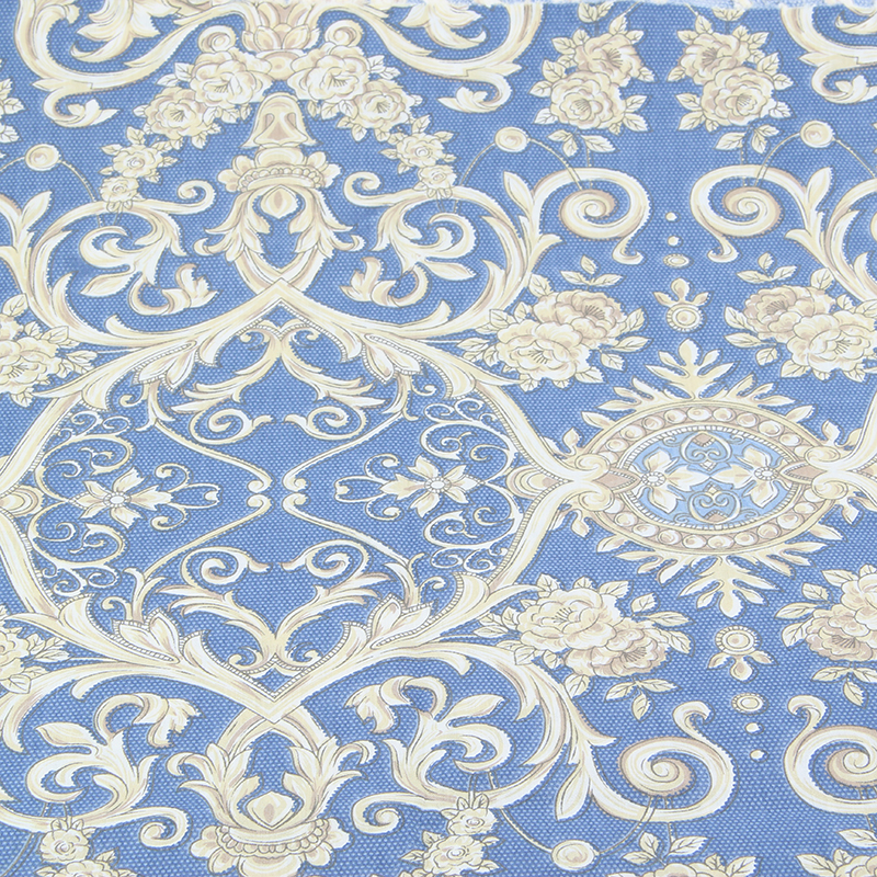 Print white flower cotton fabric quilting material for Cloth material for sewing