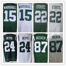 Cheap men's jersey,Elite 7 Smith 22 Forte 12 Namath 24 Revis 15 Marshall 87 Decker 96 Wilkerson Jerseys,Size M-XXXL(China (Mainland))