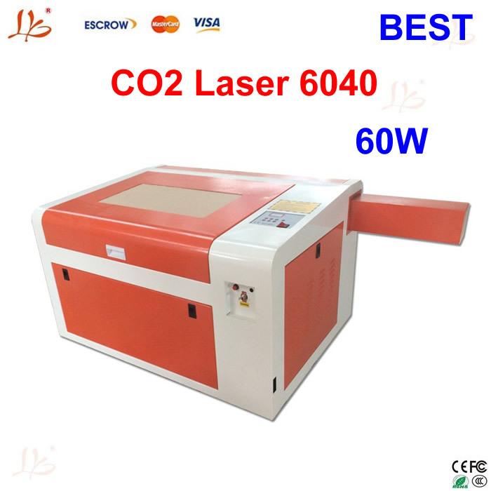 High quality!Best laser cutter LY 6040 CO2 laser engraving machine 60W,220V/110V laser seal machine(China (Mainland))