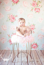 Vinyl fabric cloth  Printed photography background floral backdrop Customize Rose Newborns Photography Background D-6944(China (Mainland))