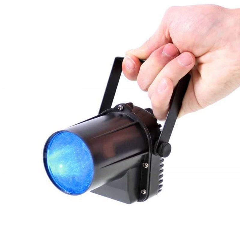 AUCD Mini Portable 5W Single Color LED Pinspot Light Strong Spotlights Beam Landscape Lamp DJ Party Show Stage Lighting LE-M01