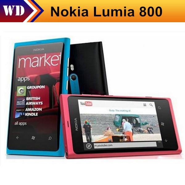 Unlocked Original Nokia Lumia 800 Windows 7.5 Cell Phones 16GB ROM 3G GPS WIFI 3.7 inch 8MP Camera In Stock Free Shipping(China (Mainland))