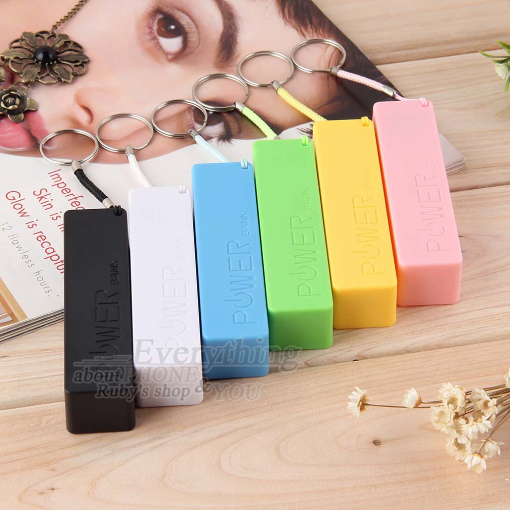 Mobile Power Bank USB 18650 Battery Charger Key Chain for iPhone for MP3 (No