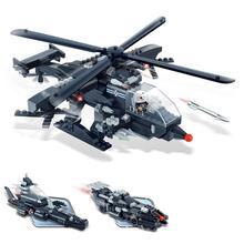 Kids Toys Building Blocks helicopter Model Building toy small particles 1285 pcs blocks helicopter simulation