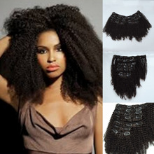 4c 4b Afro Kinky Curly Clip In Hair Extensions Mongolian Curly Hair Clip In Extensions 8″-24″ Clip Ins