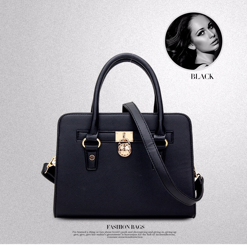 Trendy Elegant Women New Fashion Handbag Lock Ornament Luxury Embossing Bag High Quality PU Leather Shoulder Bag Crossbody