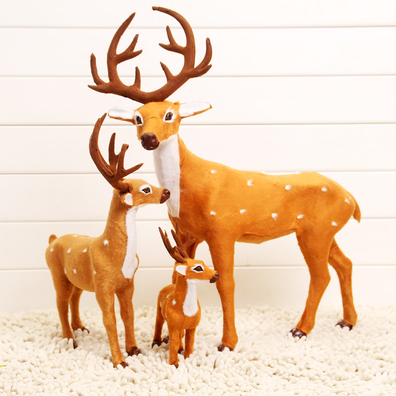 Christmas decoration props tailered reindeer toy figure - Decoration noel renne lumineux ...