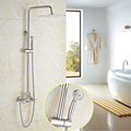 High end Best Quality 12 Rainfall Shower Head with Brass Hand Shower Bathroom Shower Faucet