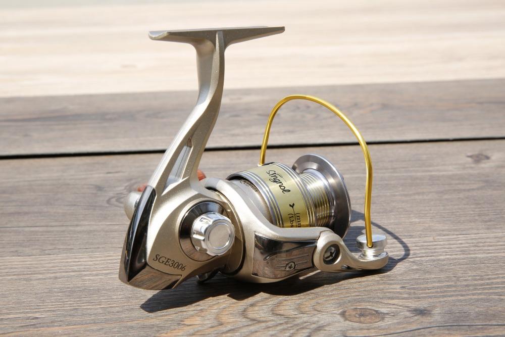 SGE Metal Spool Fishing Spinning Reel Salt Water Fishing Reel Carretilha Pesca Wheel 8Ball Bearing 5.2:1(China (Mainland))