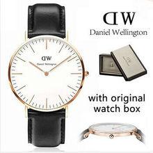 Casual brand new DW Daniel Wellington relojes hombres mujeres alta calidad de cuero moda reloj de cuarzo relogio masculino