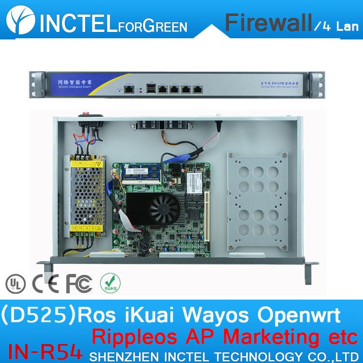 Intelligent flow control four gigabit lan firewall router with Intel Atom D525 Dual Core Four Threads 1.8Ghz sim card 3G support<br><br>Aliexpress