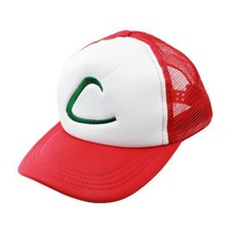 Cotton+Net Adjustable Mesh Baseball Cap Anime Cosplay Hat Pokemon Go Pocket Monster Ash Ketchum Visor Team Cap Costume Snapback