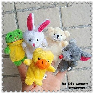 Cartoon Fingers Puppets Animal Doll,Children Educational Talking Props Plush Toys,WJ005+Free shipping