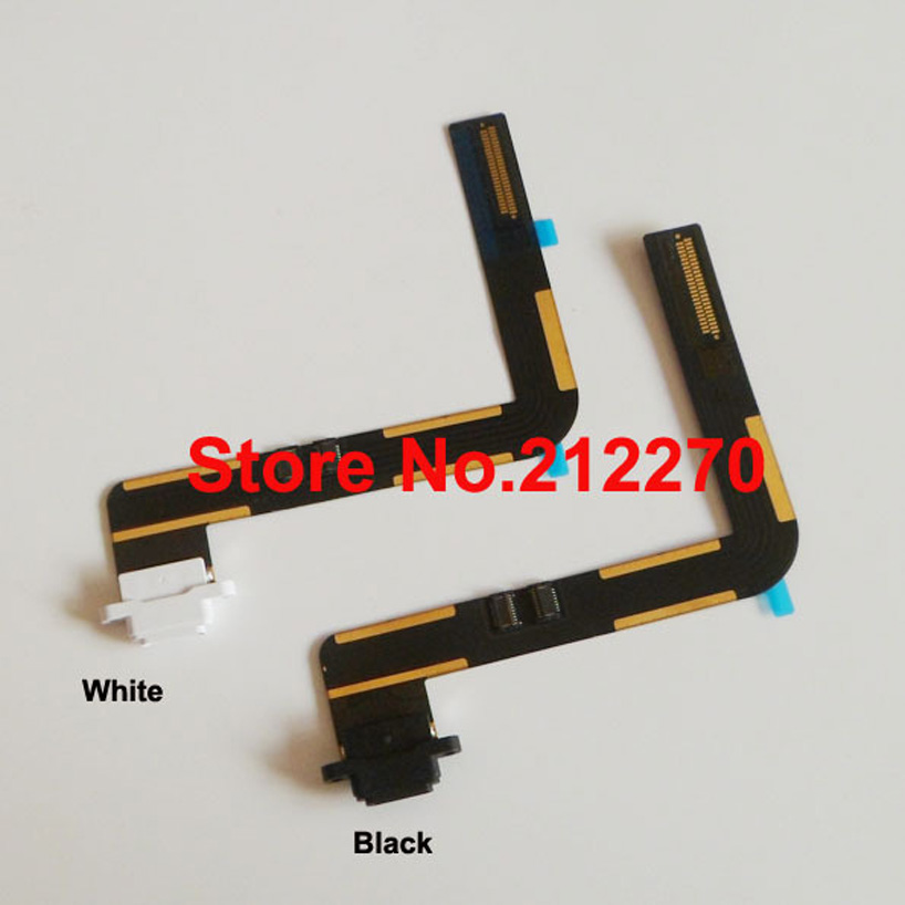 Free DHL EMS Original New Charger Charging Dock Port Connector Flex Cable For iPad Air Black/White Wholesale 100pcs/lot(China (Mainland))