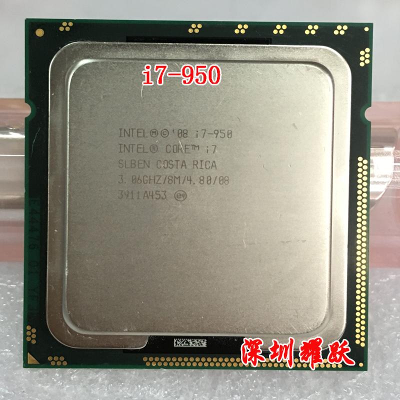 Intel Core i7-950 Processor (8M Cache,3.60 GHz, 4.80 GT/s Intel QPI) LGA1366 Desktop CPU(China (Mainland))