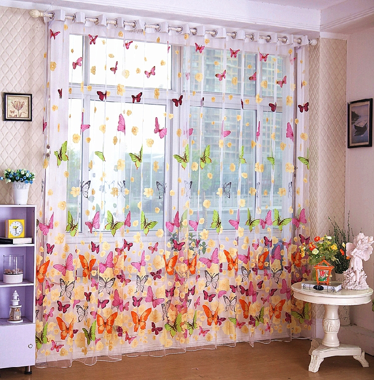 Beautiful Bedroom Expressions Coupons : free shipping beautiful flower living room curtain modern bedroom ...