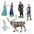 Hot 6PCS Elsa Doll Princess Anna Toy Figures Doll decoration toys Kids Toy Olaf Toy Doll