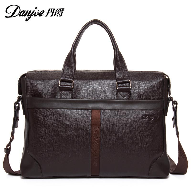 2015 Men Casual Briefcase Business Shoulder Genuine Leather Bag Men Messenger Bags Computer Laptop Handbag Bag Mens Travel Bags<br><br>Aliexpress