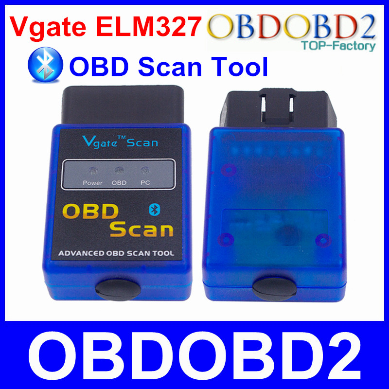 2016 Vgate ELM327 Bluetooth V2.1 OBD Scan Tool Mini ELM 327 OBDII OBD2 CAN-BUS Diagnostic Scanner For Android Torque Windows(China (Mainland))