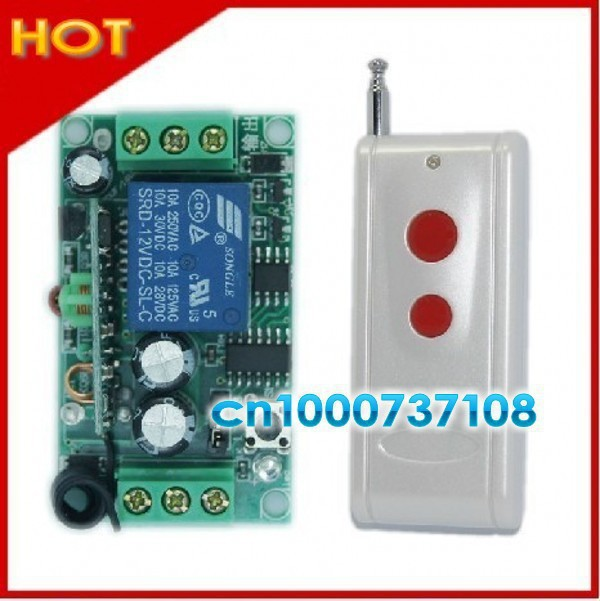 Free shipping 12V 1ch wireless remote control switch automation 315mhz/433.92mhz Long distance transmitter receiver livolo<br><br>Aliexpress