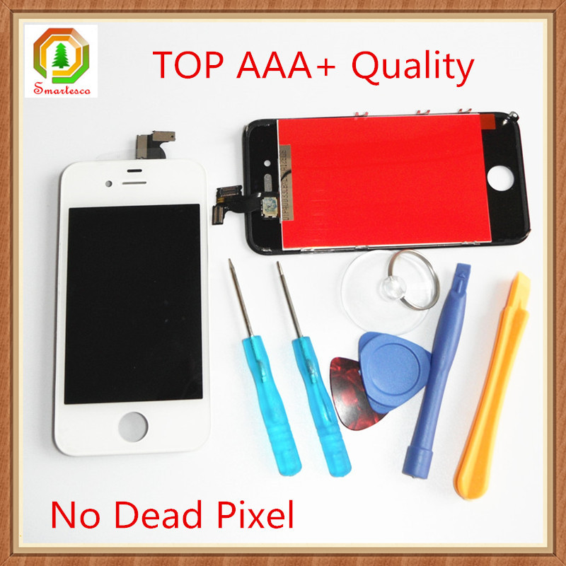 No Dead Pixel For Iphone 4 4s Lcd touch screen Digitizer Assembly display With Repair Tool Great AAA+ High Quality 100% Tested(China (Mainland))