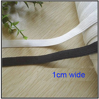Free shipping 30m/lot 1cm wide flat elastic  band black and white garment sewing accessories